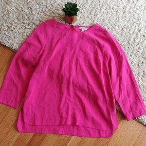Pink J. Crew Silk Shirt